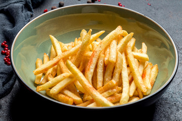 french fries on board