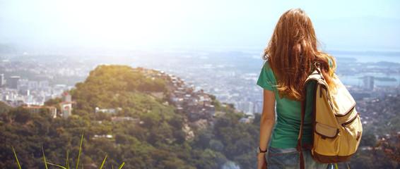 Printed kitchen splashbacks Rio de Janeiro girl at the Rio de Janeiro