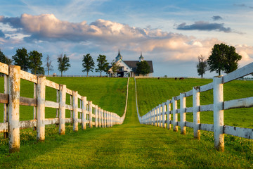 Scenic horse barn along Kentucky's back roads