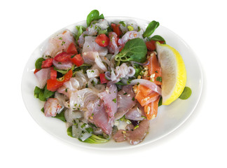 Ceviche on a plate
