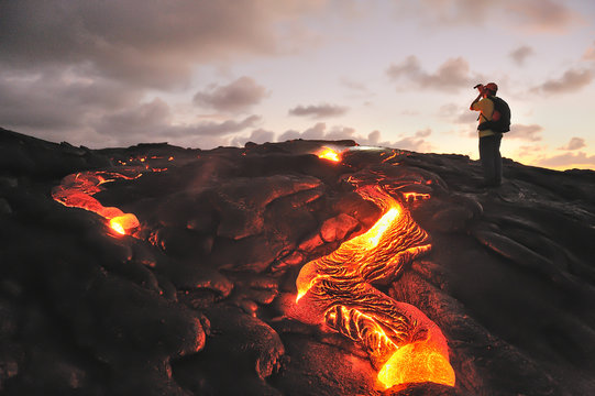 Kilauea lava flow, Big Island, Hawaii