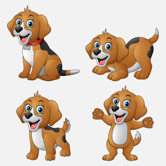Cartoon funny dogs collection set