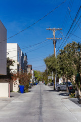 Houses and Streets of Venice, Los Angeles, California