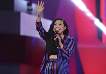 Awkwafina introduces at the iHeartRadio MuchMusic Video Awards (MMVA) in Toronto