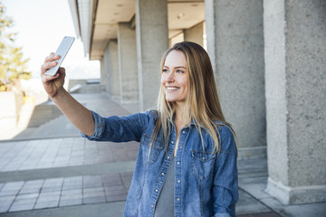 Student Taking a Selfie or Video Calling