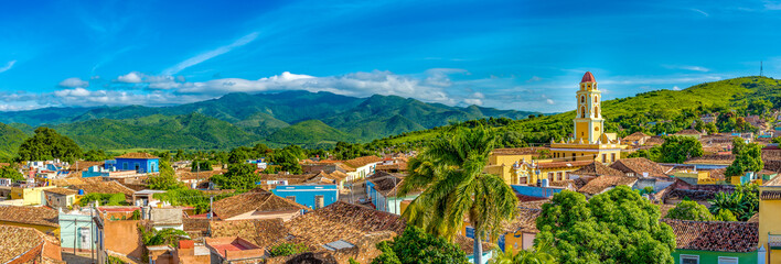 Trinidad, Cuba: Aerial view of the former Saint Francis of Assisi Convent Wall mural