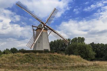 Old mill in Bokrijk, Belgium