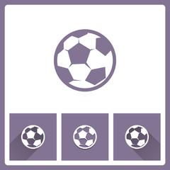 Football icon on white background