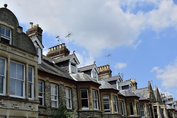 Georgian style terraced houses in London, England.