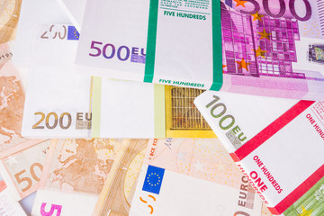 euro banknote as background