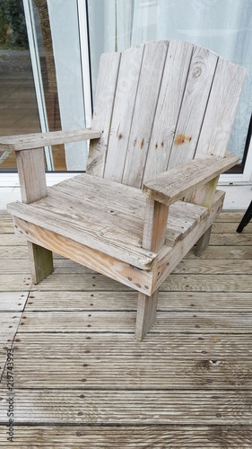 Wooden Homemade Wood Chair Outdoor Stock Photo And Royalty Free