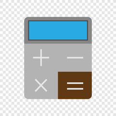 Calculator colour icon on transparent background