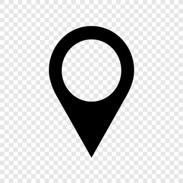 Location pointer icon on transparent background