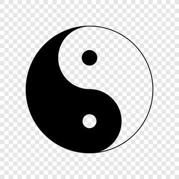 Yin yang icon on transparent background