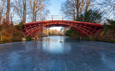 Red Bridge on Ice