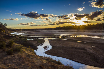Deurstickers Afrika Sunset in Olifant river landscape in Kruger National park, South Africa