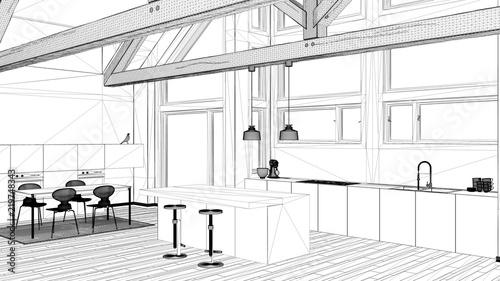 Interior Design Project Black And White Ink Sketch Architecture Inspiration Blueprint Interior Design