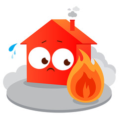 House on fire. Vector illustration