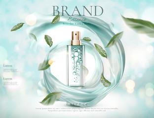 Refreshing skincare spray ads