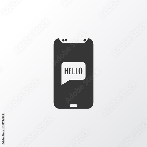 Greeting on phone icon symbol premium quality isolated hello greeting on phone icon symbol premium quality isolated hello telephone element in trendy style m4hsunfo
