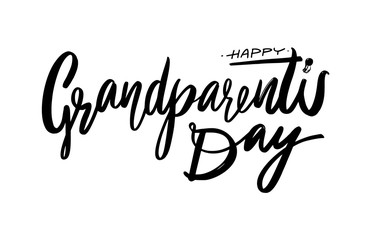 Happy Grandparents Day. Modern brush calligraphy. Vector lettering. Vector illustration.