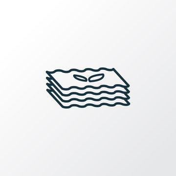 Lasagna icon line symbol. Premium quality isolated rigatoni element in trendy style.