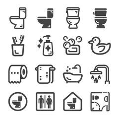 bathroom,toilet icon set