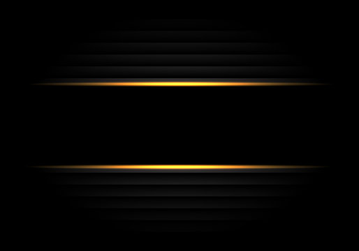 Abstract black banner yellow light design modern luxury futuristic background vector illustration.