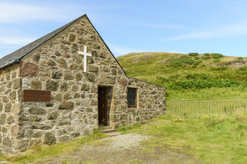 The Church of Scotland in the Island of Canna in the Inner Hebrides of Scotland