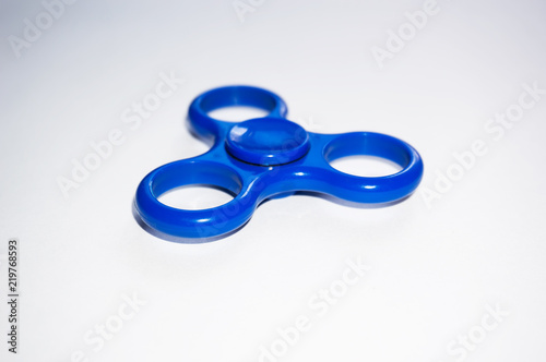 Fidget Spinner On Isolated Background Powerful Twister For Hands Entertainment Rotating