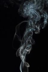 Aluminium Prints Smoke White smoke texture on black background