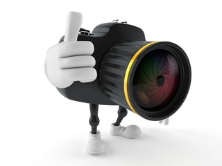 Camera character with thumbs up