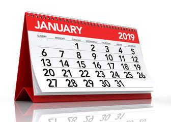 January 2019 Calendar.