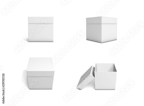 Set Of Blank Boxes Template For Packaging Design