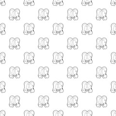 Lesbian couple icon in outline style isolated on white background