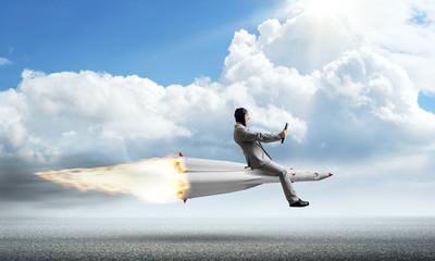 Business success and targets achievement concept.