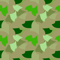 UFO military camouflage seamless pattern in in different shades of green color