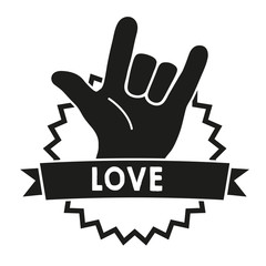 Love Sign Language Black