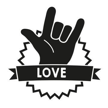 Love Sign Language Black