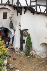 Fragment of Bran Castle - dramatic, 14th-century castle, former royal residence & alleged legend of Count Dracula inspiration in Bran city in Romania