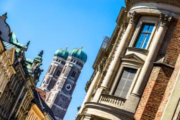Aluminium Prints Artistic monument Famous Munich Cathedral - Liebfrauenkirche