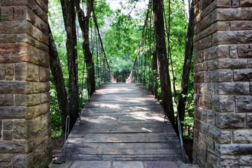 The Swinging bridge in Tishomingo State Park