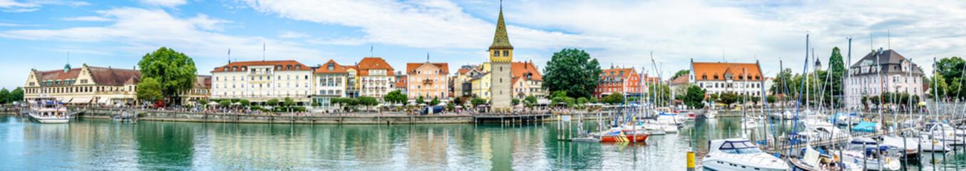 harbor of lindau - germany