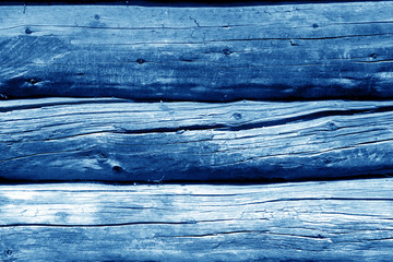 Old wooden wall in navy blue color.