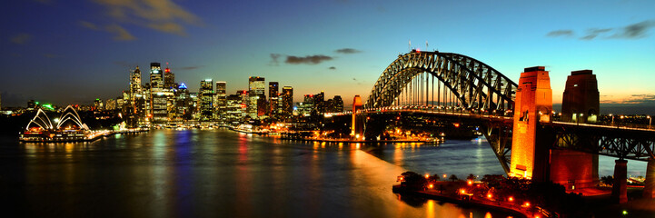 Keuken foto achterwand Sydney Sydney Harbour at night