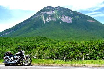 羅臼岳とバイク