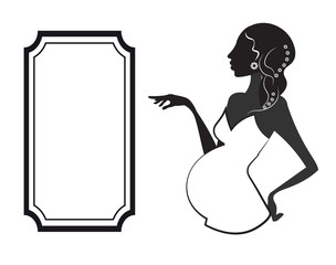 pregnant woman ang frame