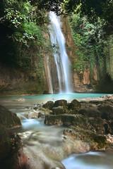 Cebu, Barili, Mantayupan Falls in tropical scenery
