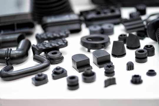 Plastic and rubber parts of automotive manufacturing by high precision mold injection in factory