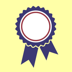 Ribbons award template isolated